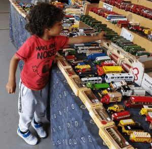 Son with Trains - Autism